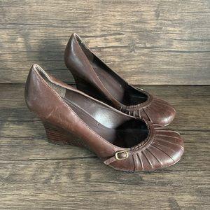 ALDO Brown Closed Toe Wedge Heel
